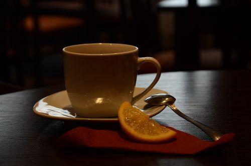 kavinė,taurė,arbata,citrina