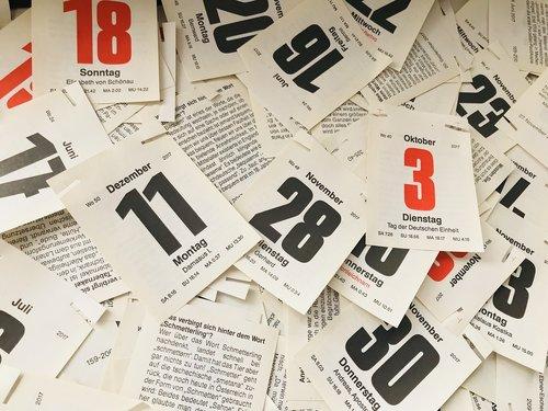 kalendorius, data, popierius
