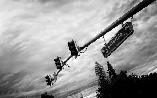eismas, šviesa, Kalifornija, juoda, balta, simbolis, ženklas, vintage, senas, gatvė, kalifornija bw