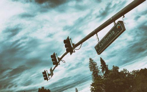 eismas, šviesa, Kalifornija, spalva, simbolis, ženklas, vintage, senas, gatvė, Kalifornija