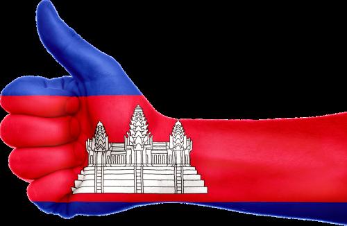 Kambodža,vėliava,ranka,nacionalinis,pirštai,patriotinis,Nykščiai aukštyn,patriotizmas,asija,asian,Kambodža