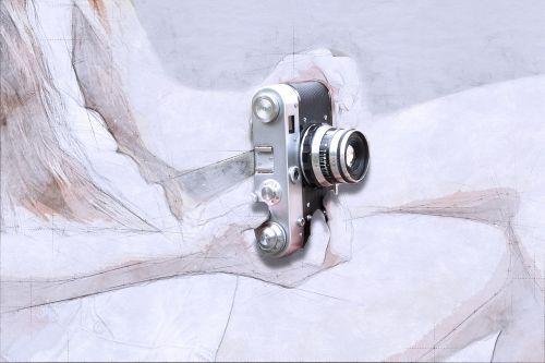fotoaparatas,menas,abstraktus,akvarelė,vintage,meno,akvarelė,dažyti skalauti