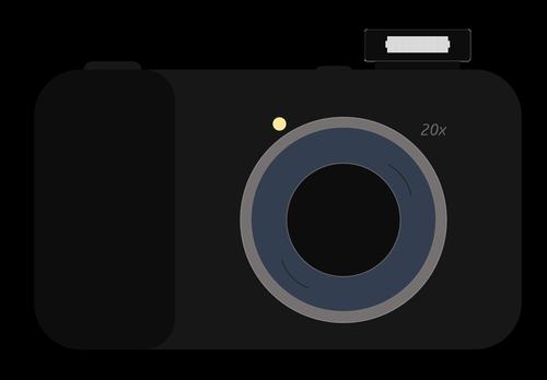 kamera, fotografijos kamera, skaitmeninė kamera, fotografas įranga, juodas fotoaparatas, technologijos, modernus kamera, objektyvas, kamera su blykste, kamera iliustracijos, Nemokama iliustracijos