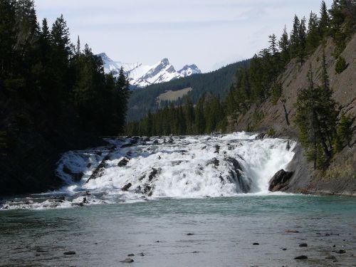 Kanada,upė,krioklys,Vakarų Kanadoje,banff