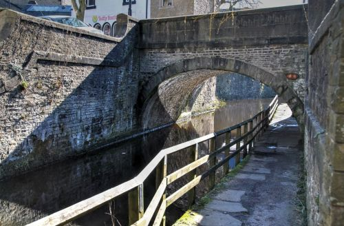 kanalas, tiltas, skipton, vanduo, akmuo, kanalo tiltas