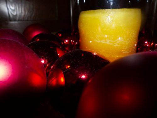 žvakės, apšviestas, šviesa, girlianda, apšviestas, Kalėdos, žvakė ir girlianda