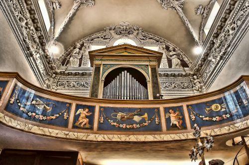 nendrės, organas, tinkas, dažymas, paveikslai, vamzdis & nbsp, organas, bažnyčia, lubos, balkonas, nendrinis organas