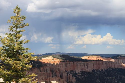 kanjonas,Utah,debesys,dangus,kraštovaizdis