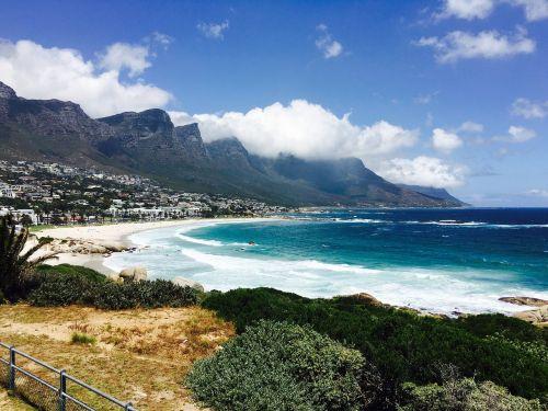 Cape Town,stovyklų įlankos,pietų Afrika,Rokas,stalo kalnas,dangus,pietų afrikos jūra,vandenynas,gražus oras,jūra,papludimys,gamta,užsakytas