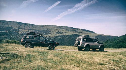 automobilis, transporto priemonė, kelionė, kraštovaizdis, off road, kalnai, visureigė transporto priemonė, off-road, kelionė, laukas, važiavimas be važiuojamosios kelio, nuotykis, 4 x 4, Jeep, be honoraro mokesčio