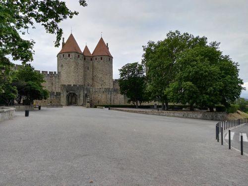 Carcassonne, Viduramžių Miestas, Senovinis Miestas, Porte Narbonnaise, Paminklas, France, Miestas, Turai