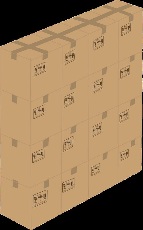 Kartoninė dėžutė,kartonas,dėžė,juda,pakavimas,pakavimas,siena,nemokama vektorinė grafika