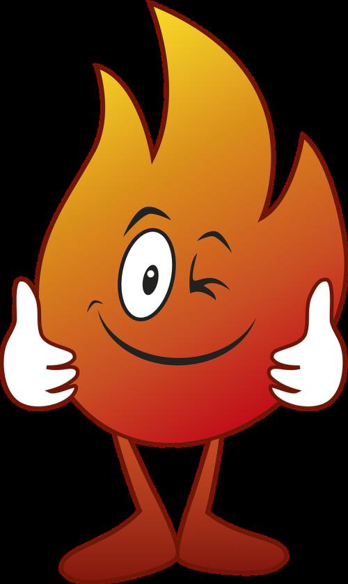 karikatūra, piešimas, Ugnis, liepsnos, laužavietė, deginimas, skaitmeninis piešimas, šiluma, be honoraro mokesčio