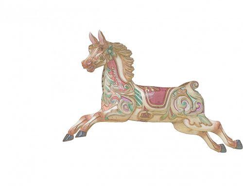 karuselė & nbsp, arklys, arklys, spalvinga, Iliustracijos, menas, iliustracija, izoliuotas, balta, fonas, Scrapbooking, Karuselė arklys spalvinga paveikslėlis