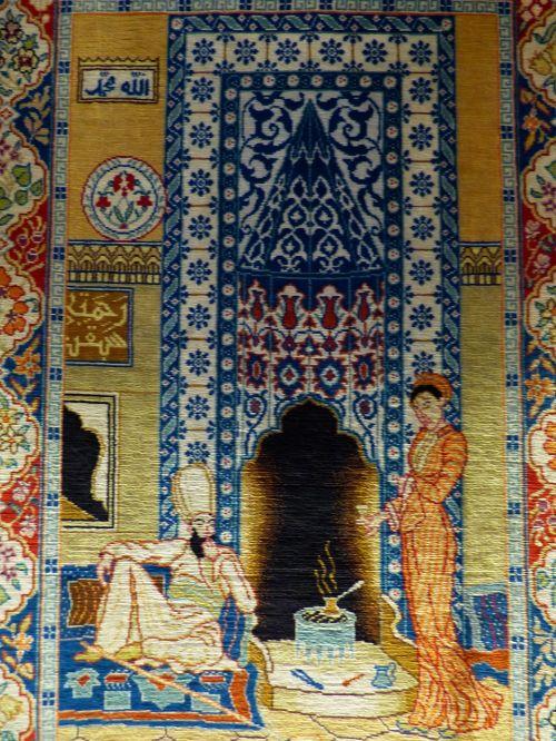 kilimas,susietas,šilkas,paveikslėlis kilimas,menas,brangus,vertingas,amatų