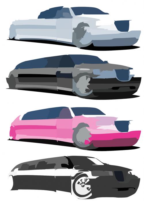 automobiliai,Limuzinai,neryškus,pasigyrimas,ilgai,elegancija,balta,juoda,rožinis,nemokama vektorinė grafika