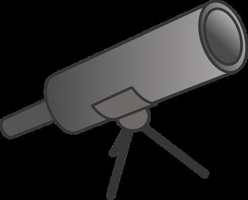 animacinis filmas,atrodo,žiūri,didina,teleskopas,nemokama vektorinė grafika