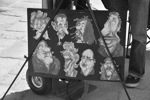 animacinius filmus, brėžiniai, menas, menininkai, gatvė, gatvės menininkai, miesto, miestas, juoda ir balta, meninis