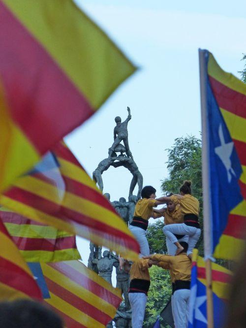 pilys,castellers,žvaigždė,simbolis,katalonija,dyad,pasireiškimas,nepriklausomumas,nepriklausomumas,anxaneta