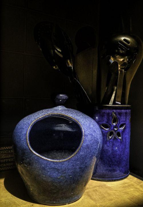 ratukas,virtuvė,šaukštas,mėlynas,keramika