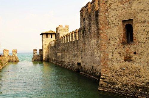 pilis, Rocca, Torre, Viduramžiai, tvirtovė, Sirmione