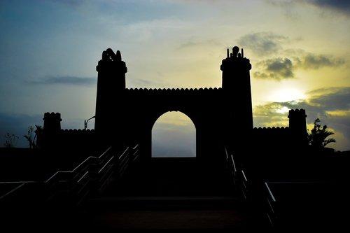 pilis, spalvingas dangus, pobūdį, kraštovaizdis, debesys, spalvinga, dangus, saulėlydžio, atmosfera, lauko, Turizmas, kelionė, spalva, saulė