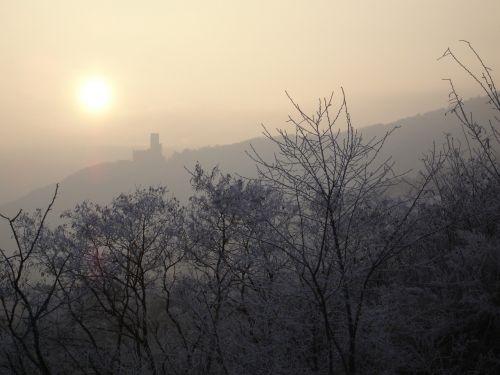 pilis,Alsace,vosges,saulė,rūkas,difuzinė,žiema,gamta,natūralus humoras,rūkas,dangus,šviesa,nuotaika,kraštovaizdis,ruduo,kalnai rūkas