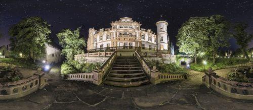 pilis, naktis, Vokietija, apšviestas, naktinė nuotrauka, nuotaika, turizmas, istoriškai, vakaras, naktinė nuotaika, panorama