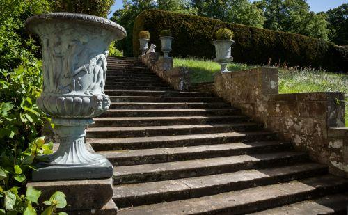 žingsniai, sodai, pilis, Northumbria, Chillingham, pilies sodai
