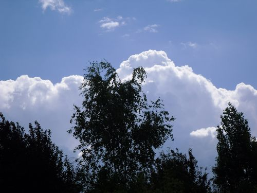 oras, debesis, cumulus, pilys danguje