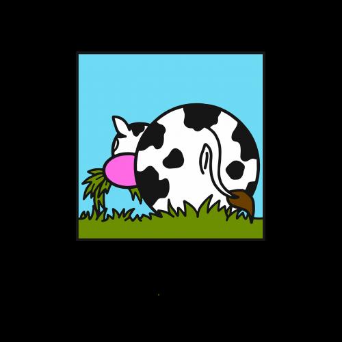 galvijai, žolė, gyvuliai, be honoraro mokesčio