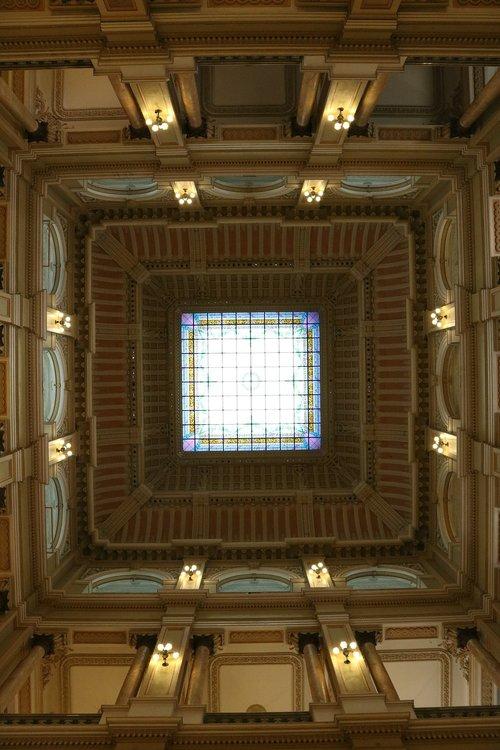 lubų, menas, Dažytas lubų, muziejus, architektūra, kultūra, istorija, Brazilija, kontrastas, statybos, Turizmas, stogo, turistų, Turistų kelionės tikslas, turistų atrakcijos, turistų vieta, RJ, vietos, biblioteka, dangus, kolonijinis