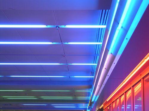 lubų apšvietimas,Neoninė šviesa,neoninės šviesos,neonas,lempos,šviesa,apšvietimas,neonas raudonas,neonas mėlynas,raudona,mėlynas,neoninės lempos
