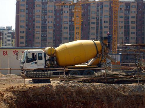 objektas, sunkvežimis, cemento & nbsp, sunkvežimis, statyba, statyti, verslas, gabenimas, transporto priemonė, cementinis sunkvežimis