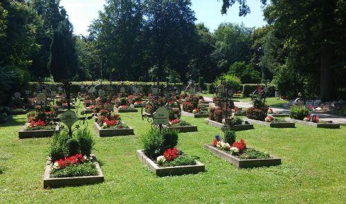kapinės, vienuolyno kapinės, poilsio vieta vienuolėms, vienuolynas, kapinės akmenys, kryžiai, eckberg, sanatorija, klinika, viršutinė Bavarija, bavarija, pamatų vieta, tikėjimas, paskutinė poilsio vieta, kapinės