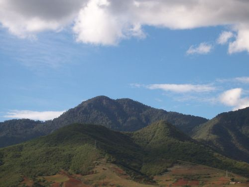dirvožemis, Žemdirbystė, žemė, kalnai, kalvos, augmenija, žalias, mėlynas, kalvos