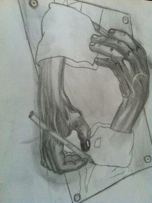 medžio anglių piešimas,pieštuko pieštukas,piešimas,rankos,pieštukai,dažymas