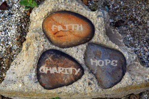 tikėjimas, viltis, meilė, trys, akmenys, ruda, auksas, žodžiai, sakydamas, apvalus, krikščionis, šventųjų, meilė, viltis, tikėjimas