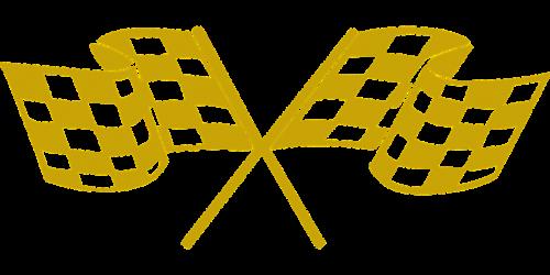 tikrinimo vėliavos,lenktynių vėliavos,vėliava,auksinis,lenktynės,baigti,nugalėtojas,nemokama vektorinė grafika