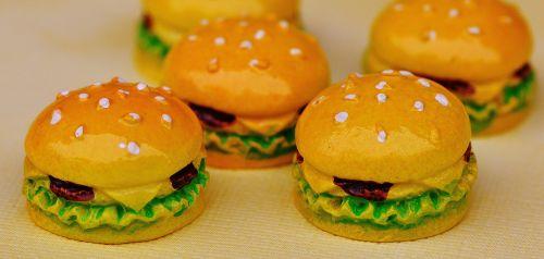 cheeseburger,mesainis,miniatiūrinė,keramika,juokinga,apdaila,trapi,deko