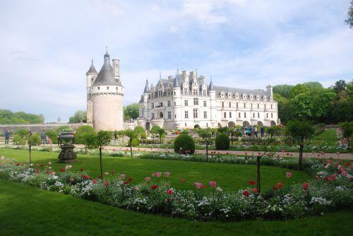 Chenonceaux,pilis,turizmas,renesansas,loire,sodas