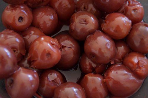 vyšnios,rūgščiosios vyšnios,vaisiai,įterpta,užmušti akmenimis,morello,saldus,uogos,raudona,priedas