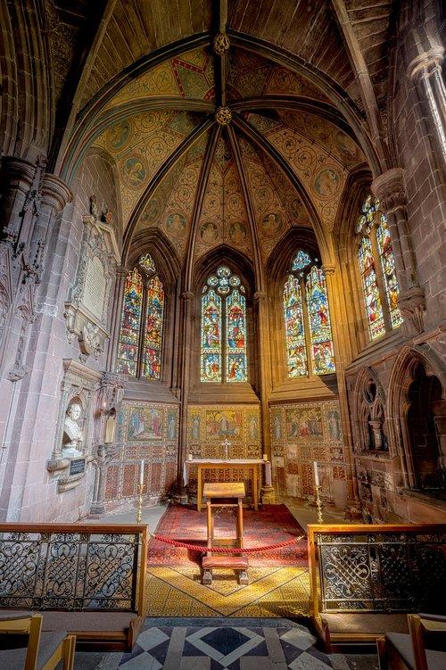 Chester katedra, Chester, katedra, bažnyčia, Abbey, Minster, religinis, Religija, Šventoji, šventa, koplyčia, arka, arkos, melstis, melstis, interjero, interjerai, viduje, architektūra, statyba, kambarys, Anglų, Britų, istorinis, senas