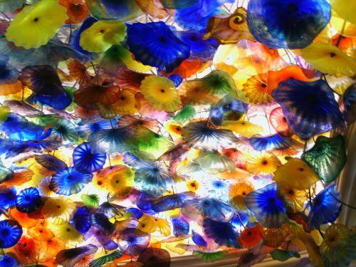 chihuly stiklo skulptūra,stiklo skulptūra,lubos,menas,skulptūra,bellagio viešbutis,Las Vegasas,Nevada
