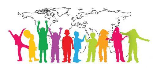 Vaikai, Siluetas, Sveikinimai, Gaublys, Žemė, Pasaulis, Persiųsti, Teigiamas, Vaizdas, Džiaugsmas, Šviesa, Sąskaitą, Atostogos, Linksmas, Entuziazmas, Lūkesčiai, Viltis, Ateities Perspektyvos, Perspektyva, Pristatymas, Vilties Spindulys, Perspektyva