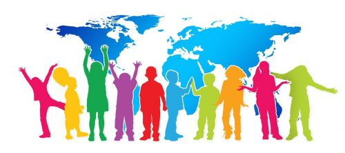 Vaikai, Siluetas, Sveikinimai, Žemynai, Persiųsti, Teigiamas, Vaizdas, Džiaugsmas, Šviesa, Sąskaitą, Atostogos, Linksmas, Entuziazmas, Lūkesčiai, Viltis, Ateities Perspektyvos, Perspektyva, Pristatymas, Vilties Spindulys, Perspektyva