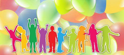 Vaikai, Siluetas, Sveikinimai, Balionas, Apie, Persiųsti, Teigiamas, Vaizdas, Džiaugsmas, Šviesa, Sąskaitą, Atostogos, Linksmas, Entuziazmas, Lūkesčiai, Viltis, Ateities Perspektyvos, Perspektyva, Pristatymas, Vilties Spindulys, Perspektyva