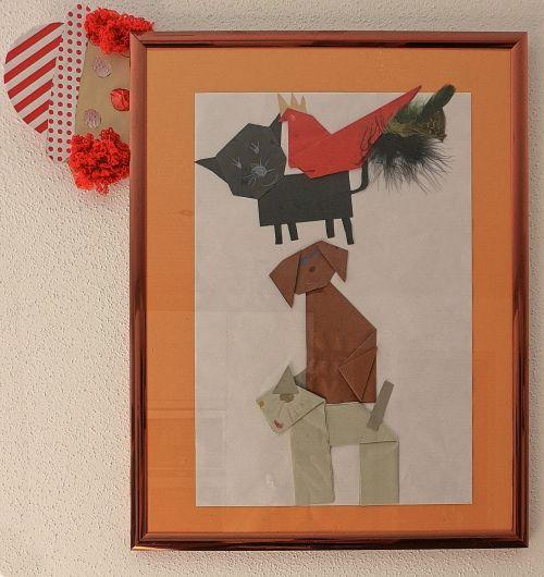 vaikų paveikslėlis,Pasidaryk pats,origami