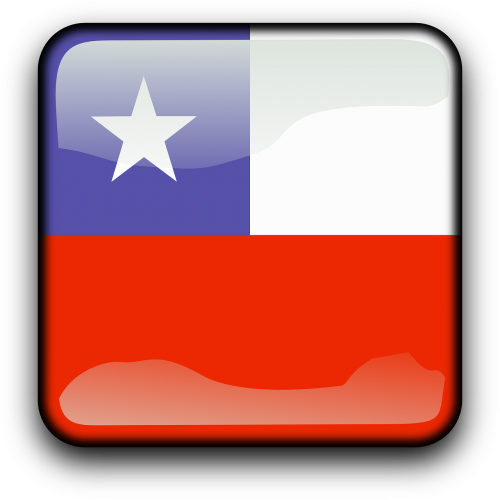čile,vėliava,Šalis,Tautybė,kvadratas,mygtukas,blizgus,nemokama vektorinė grafika