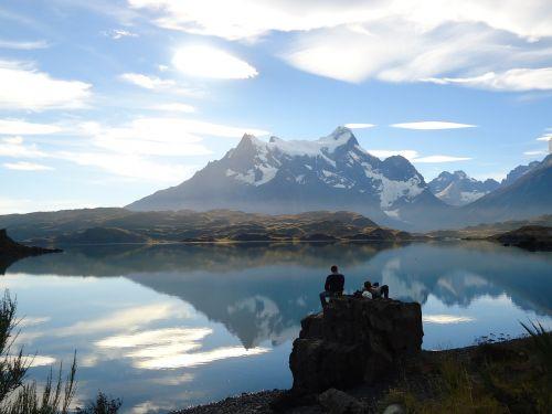 čile,torres del paine,kelionė,gamta,patagonia,kalnai,ežeras,kraštovaizdis,vanduo,Nacionalinis parkas,idiliškas,Pietų Amerika